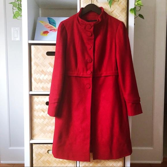 Nine West Jackets & Blazers - Elegant Red Wool Coat